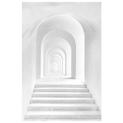 Framed Print on Rag Paper: Perspective in White by R. Schreiner
