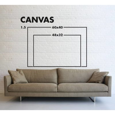 Framed Print on Canvas: Digression Canvas by Evelyn Ogly