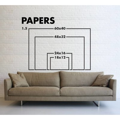 Framed Print on Rag Paper: Columnata by C. Rignola