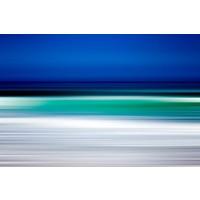 Facemount Metal: Turquoise Blur Print on Metal