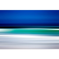 The Picturalist Framed Facemount Metal: Turquoise Blur Print on Metal
