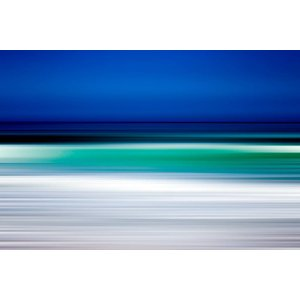Framed Facemount Metal Turquoise Blur Print on Metal