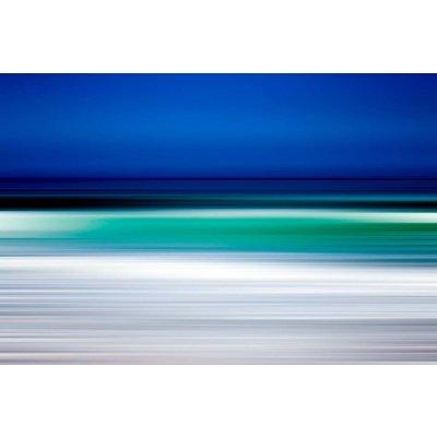 Facemount Metal: Turquoise Blur UV Printed on Metal