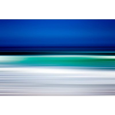 The Picturalist Framed Facemount Metal: Turquoise Blur UV Printed on Metal