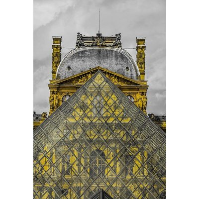 The Picturalist Framed Facemount Acrylic: The Louvre 1/4 Inch Thick Acrylic Glass
