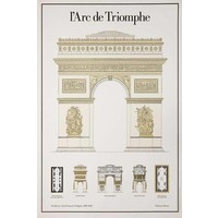 Print on Paper US250 - L'Arc De Triomphe Architectural Drawings