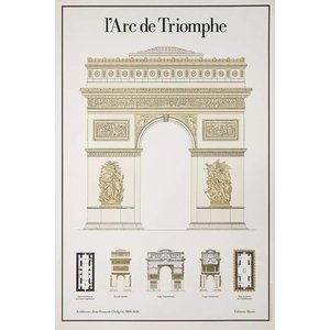 Framed Print on Rag Paper L'Arc De Triomphe