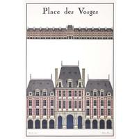 Framed Print on Rag Paper La Place Des Vosges