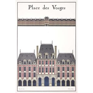 Framed Print on Rag Paper La Place Des Vosges