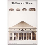 The Picturalist Framed Print on Rag Paper: Le Theatre de L'Odeon Architectural Drawings