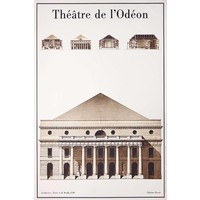 Framed Print on Rag Paper: Le Theatre de L'Odeon