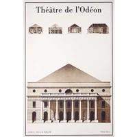 Framed Print on Rag Paper: Le Theatre de L'Odeon