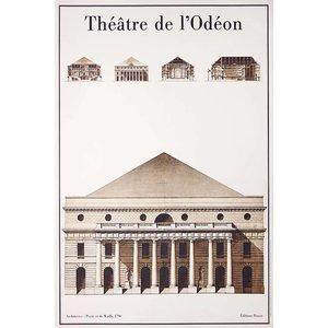 The Picturalist Framed Print on Rag Paper: Le Theatre de L'Odeon