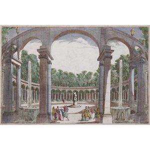 Framed Print on Rag Paper: La Rotonde Antique