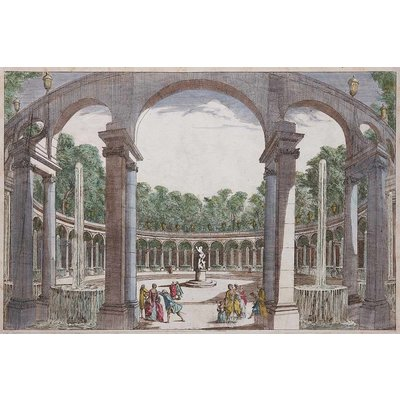 Framed Print on Rag Paper: La Rotonde Antique Architectural Drawings
