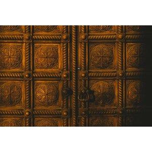 The Picturalist Framed Print on Rag Paper: Brass Doors