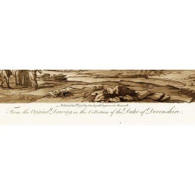 The Picturalist Framed Print on Rag Paper: Antique Pastoral Scene with Bridge Duke Of Devonshire by J. Boydell 1776