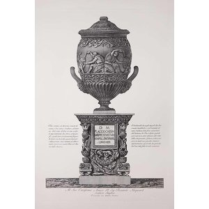 Framed Print on Rag Paper Piranesi Urn Dedicated to Sir Richard Hayward British Sculptor