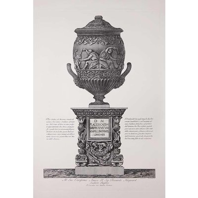 The Picturalist Framed Print on Rag Paper: Piranesi Urn Dedicated to Sir Richard Hayward British Sculptor