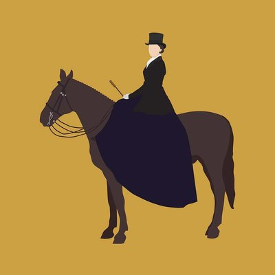 The Picturalist Framed Print on Rag Paper: Lady Mary Illustration by Alejandro Franseschini