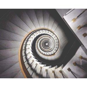 Framed Print on Rag Paper Spiral Stairway