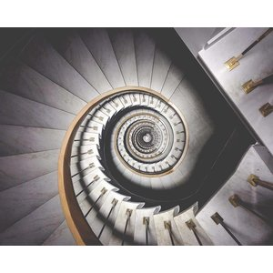 The Picturalist Framed Print on Rag Paper: Spiral Stairway