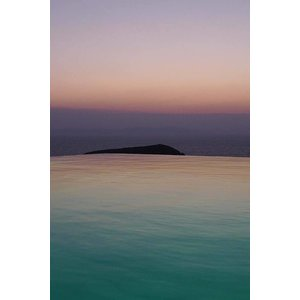 The Picturalist Framed Print on Rag Paper: Horizon Rose et Turquoise