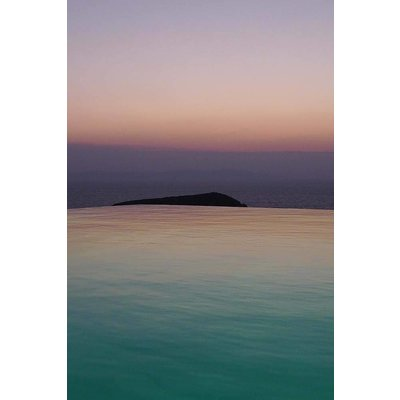 The Picturalist Framed Print on Rag Paper: Horizon Rose et Turquoise by Eric Gizard