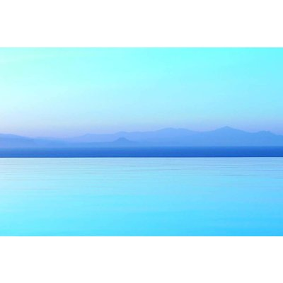 The Picturalist Framed Print on Rag Paper: Horizon Bleu by Eric Gizard