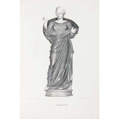Framed Print on Rag Paper: Adorante by Granger engraved by M. Caron