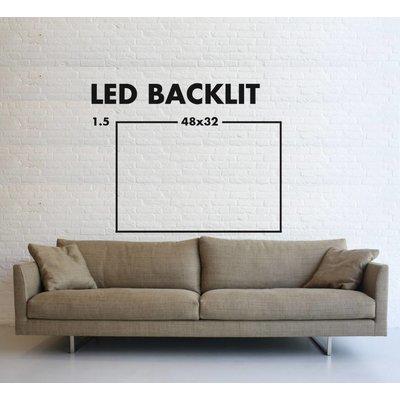 LED Backlit Fabric Print Metal Box Hazy Morning at the Beach by M. Tegethoff LED Backlit
