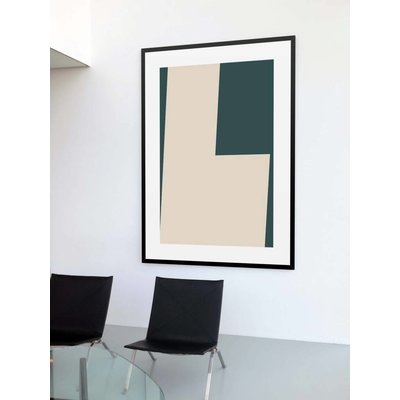 Framed Print on Rag Paper: Untitled 550 by Pedro Nuka