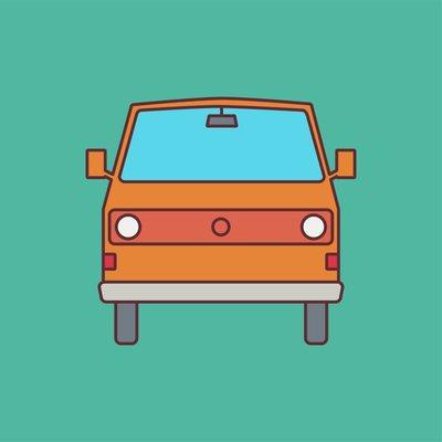 Framed Print on Rag Paper: 80's Caravan