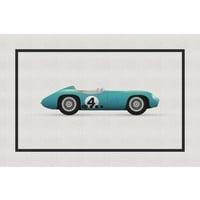 Framed Print on Rag Paper: Vintage Formula Aston Martin
