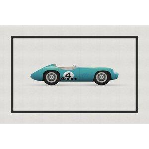 Framed Print on Rag Paper Vintage Formula Aston Martin