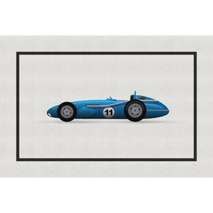 Framed Print on Rag Paper: Vintage Formula Mercedes Benz