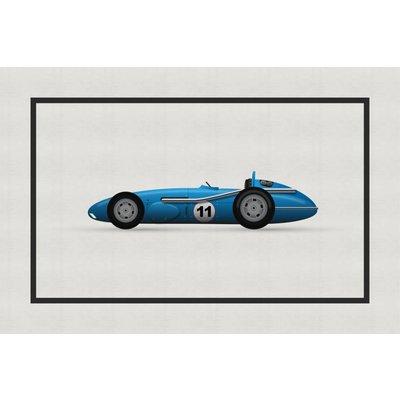 Framed Print on Rag Paper: Vintage Formula Mercedes Benz