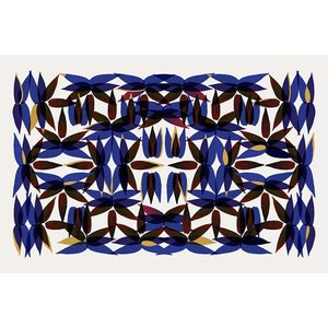 Framed Facemount Acrylic Kaleidoscope In Blue Facemount Acrylic
