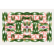 The Picturalist Framed Facemount Acrylic: Kaleidoscope in Pink 1/4 Inch Thick Acrylic Glass
