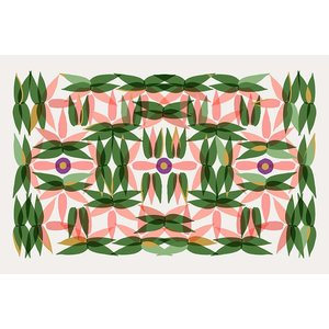 Framed Facemount Acrylic Kaleidoscope in Pink 1/4 Inch Thick Acrylic Glass