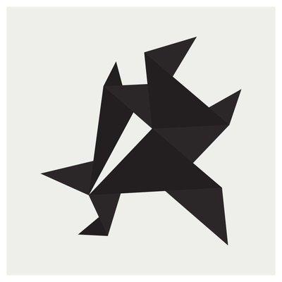 Framed Print on Rag Paper: Origami 4 by Alejandro Franseschini