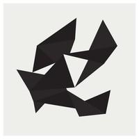 Framed Print on Rag Paper: Origami 2