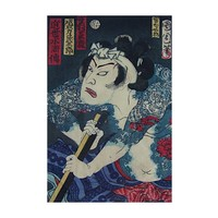 Framed Print on Rag Paper: Japanese Kabuki Ukiyoe Block-print 6