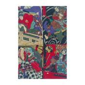 Framed Print on Rag Paper: Japanese Kabuki Uki-yoe Block-print by Toyohara Kunichika 8