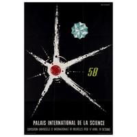 Framed Print on Rag Paper: 1958 Palais International de la Science Brussels
