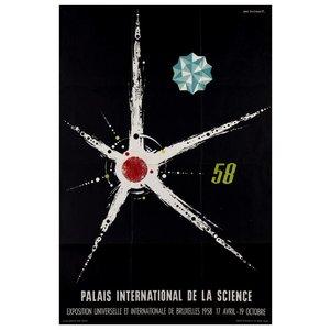Framed Print on Rag Paper 1958 Palais International de la Science Brussels