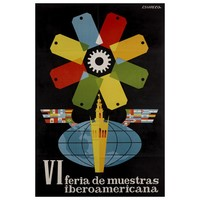Framed Print on Rag Paper: VI Feria de Muestras Iberoamericana
