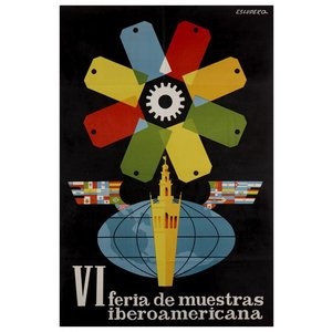 Framed Print on Rag Paper VI Feria de Muestras Iberoamericana