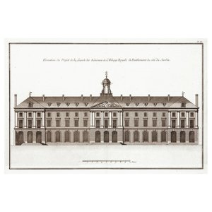 Framed Print on Rag Paper: Architectural Elevation of the Abbaye Royale