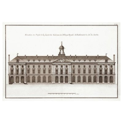 Print on Paper US250 - Architectural Elevation of the Abbaye Royale